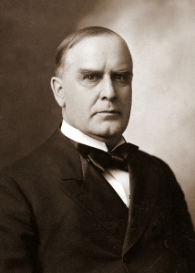 William McKinley (1843-1901), 25th President of the United States.