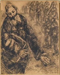 Joshua closes the book of Law that he has just read to the people of Israel (Joshua, VIII, 33 35) Marc Chagall