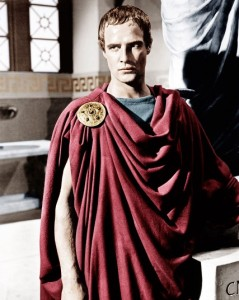 Marlon Brando as Marc Antony in the 1953 film version of Julius Caesar. (Photo: 451 Years of William Shakespeare, The Telegraph