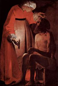 Job Mocked by His Wife Georges de La Tour