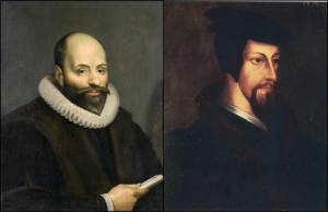 James Arminius (Jakob Hermanszoon) and John Calvin, two highly influential figures of the Protestant Reformation whose opposing doctrinal positions illustrate the fact that we still see YHVH's plans imperfectly.