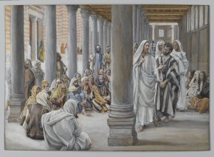 Jesus Walks in the Portico of Solomon James Tissot