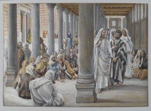 Jesus Walks in the Portico of Solomon James Tissot