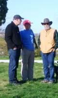 Left to right: Ephraim Frank, Al McCarn, Mike Pantuso