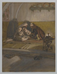 In Interview between Jesus and Nicodemus, James Tissot depicts one Jew's honest attempt to understand Yeshua of Nazareth and his followers. Although Nicodemus eventually became one of Yeshua's followers, Christians have overlooked one very important point: neither he nor Yeshua ever ceased being Jewish.