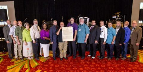 The Elders and Executives of B'ney Yosef North America at the presentation of the Articles of Declaration.
