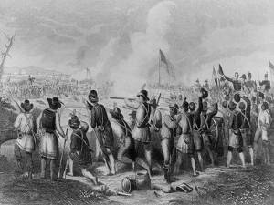 On January 8, 1815, an odd assortment of U.S. Soldiers, French and Spanish Creoles, African slaves and free men, Kentucky frontiersmen, and French pirates set aside their differences to fight as comrades against an invading British army at New Orleans.  The peril they shared transformed these disparate residents of the western frontier into Americans - a single people who shared a common identity regardless of their past and future differences.  (Image: The Battle of New Orleans January 8th 1815 / drawn by Oliver Pelton ; engraved by Hammat Billings,1882. Accessed from the Library of Congress.)