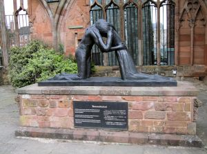 The Reconciliation Statute, St. Michael's Cathedral, Coventry, England.