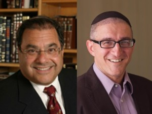 CJCUC Chancellor and Founder Rabbi Dr. Shlomo Riskin (left) and Associate Director Rabbi Pesach Wolicki (right).