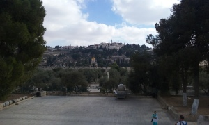 Mount of Olives as seen from the Temple Mount.