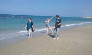On the beach at Caesarea.