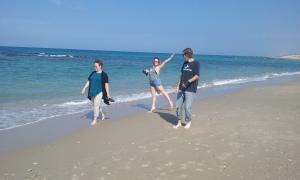On the beach at Caesarea.