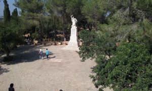Statue of Elijah's Victory over the prophets of Ba'al at Mount Carmel.