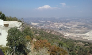 The Jezreel Valley as seen from Mount Carmel.