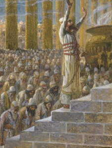 Solomon Dedicates the Temple at Jerusalem James Tissot