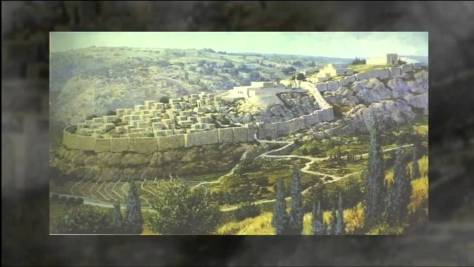 Jerusalem as it appeared during the days of the First Temple.