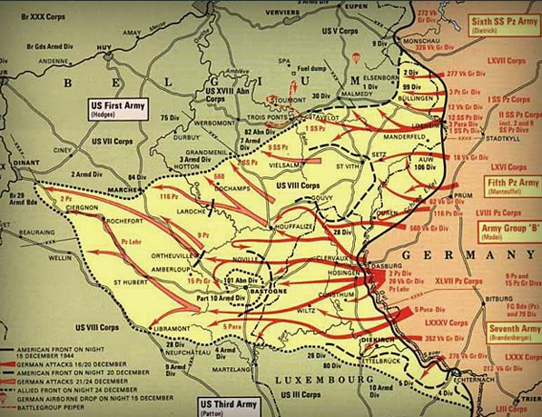 The Battle of the Bulge, December 16, 1944 to January 25, 1945.