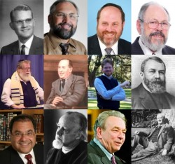 The multitude of people who have influenced my spiritual views (and worldview in general) include many who would not appreciate being in the same company with one another. Some of them are pictured here. Top row (L-R): Dr. Edgar Arendall (Southern Baptist); Pastor Mark Biltz (Non-Jewish Messianic); Rabbi David Fohrman (Orthodox Jewish); Dr. Dan Juster (Messianic Jewish). Second Row (L-R); Monte Judah (Hebrew Roots/Two House); C.S. Lewis (Anglican); J.K. McKee (Non-Jewish Messianic); D.L. Moody (Evangelical Christian). Third Row (L-R): Rabbi Shlomo Riskin (Orthodox Jewish); Dr. Francis Schaeffer (Evangelical Christian); Dr. R.C. Sproul (Presbyterian); J.R.R. Tolkien (Roman Catholic).