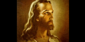 Warner Sallman first drew his famous Christ picture in charcoal. It was colorized later.