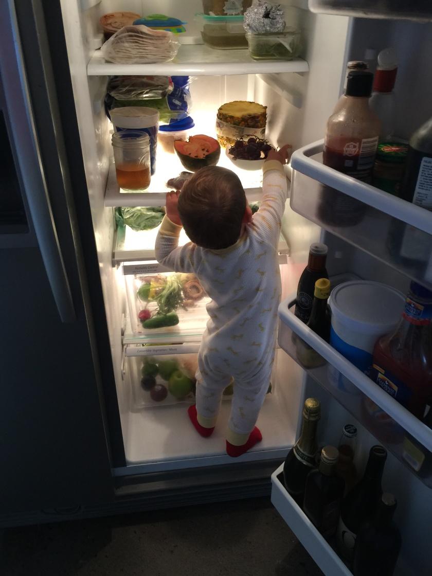 BFB211023 Child and Refrigerator